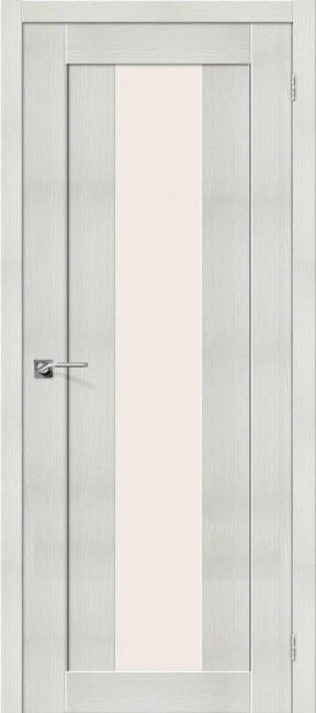 """Фото -   Межкомнатная дверь """"Порта-25 alu"""", по, Bianco Veralinga     фото в интерьере"""