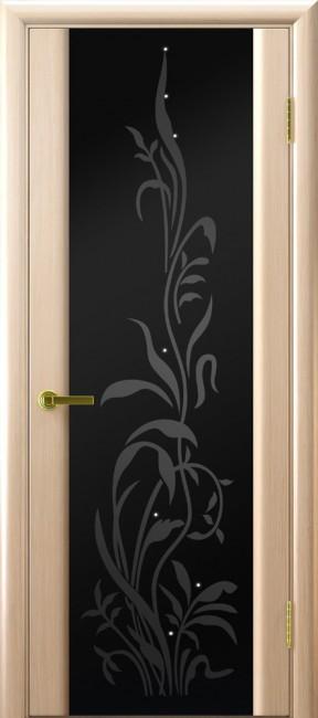 """Фото -   Межкомнатная дверь """"Трава 2"""", по, беленый дуб     фото в интерьере"""