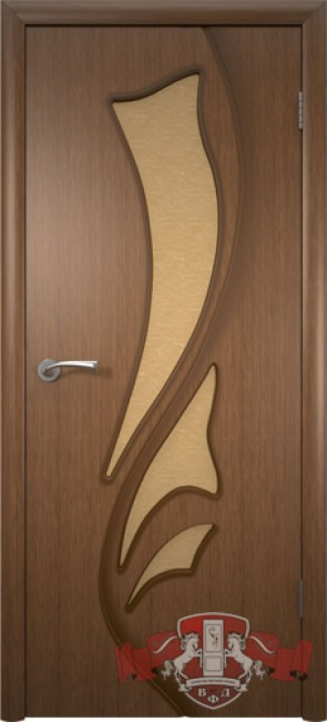 """Межкомнатная дверь """"Лилия"""", по, орех"""