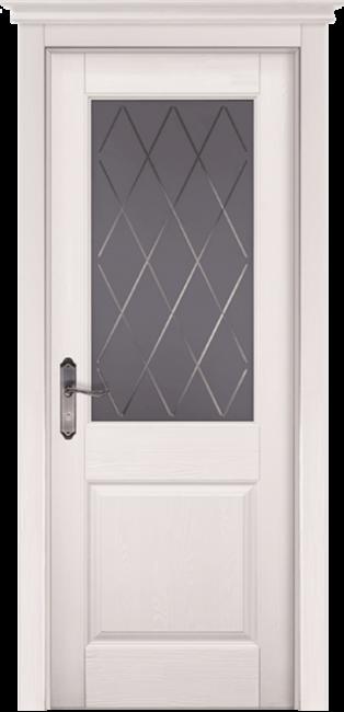 """Фото -   Межкомнатная дверь """"Элегия"""", по, Эмаль Белая (RAL 9010), Браш сосна     фото в интерьере"""