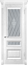 """Межкомнатная дверь """"Фараон 2"""", по, дуб белая эмаль"""
