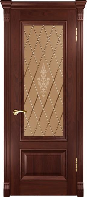 """Фото -   Межкомнатная дверь """"Фараон 1"""", по, красное дерево     фото в интерьере"""