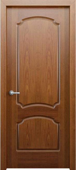 Фото -   Межкомнатная дверь Фламенко, пг, орех   | фото в интерьере