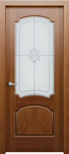 Фото -   Межкомнатная дверь Фламенко, по, орех   | фото в интерьере