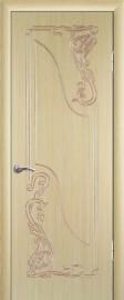 """Межкомнатная дверь """"Флоренция"""", пг, беленный дуб"""