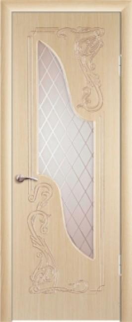 """Межкомнатная дверь """"Флоренция"""", по, беленный дуб"""