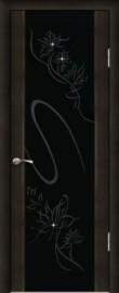 """Межкомнатная дверь """"Кристалл"""", по, венге"""