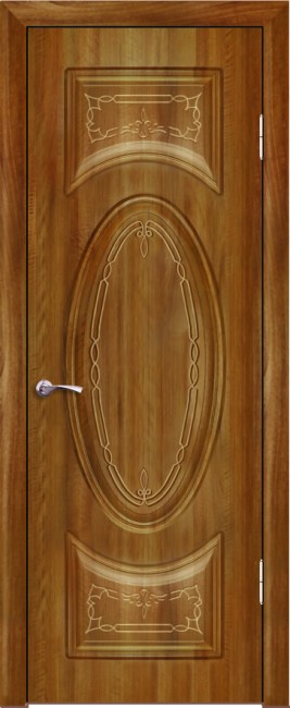 """Межкомнатная дверь """"Гармония"""", пг, орех седой светлый"""