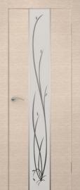 Фото -   Межкомнатная дверь Сити Гранд беленый дуб, стекло белое   | фото в интерьере