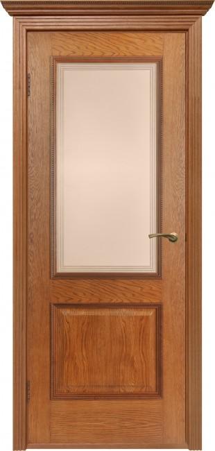 """Фото -   Межкомнатная дверь """"Гранд"""", по, орех-коньяк     фото в интерьере"""