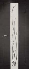 Фото -   Межкомнатная дверь Сити Гранд венге, стекло белое   | фото в интерьере
