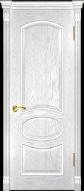 "Межкомнатная дверь ""Грация"", пг, дуб белая эмаль"