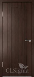 """Межкомнатная дверь """"Сигма 2"""", пг, венге"""