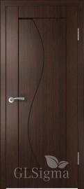 """Межкомнатная дверь """"Сигма 5"""", пг, венге"""