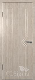 """Межкомнатная дверь """"Сигма 6"""", пг, беленый дуб"""