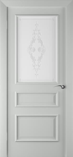 Фото -   Межкомнатная дверь ПО Алессандро Грей Эмаль   | фото в интерьере