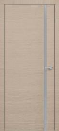 Фото -   Межкомнатная дверь Zadoor ПО ALU H1 Окаша Капучино   | фото в интерьере