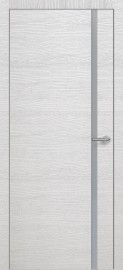 Фото -   Межкомнатная дверь Zadoor ПО ALU H1 Окаша Сильвер   | фото в интерьере