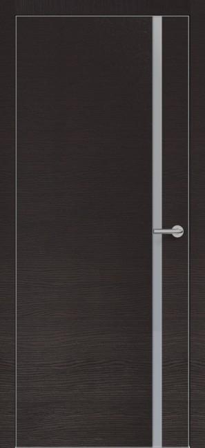 Фото -   Межкомнатная дверь Zadoor ПО ALU H1 Окаша Венге   | фото в интерьере