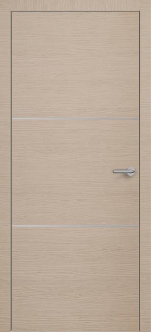 Фото -   Межкомнатная дверь Zadoor ПО ALU H11 Окаша Капучино   | фото в интерьере