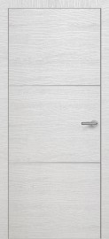 Фото -   Межкомнатная дверь Zadoor ПО ALU H11 Окаша Сильвер   | фото в интерьере
