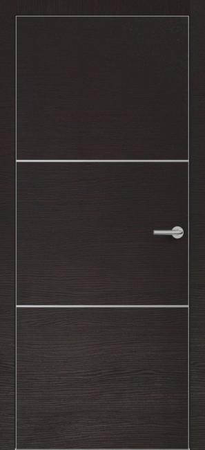 Фото -   Межкомнатная дверь Zadoor ПО ALU H11 Окаша Венге   | фото в интерьере