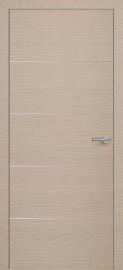 Фото -   Межкомнатная дверь Zadoor ПО ALU H12 Окаша Капучино   | фото в интерьере