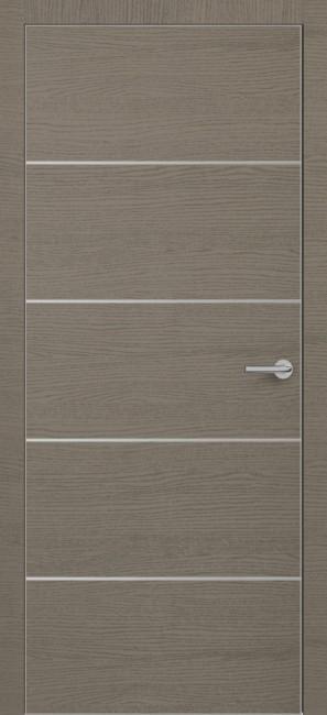 Фото -   Межкомнатная дверь Zadoor ПО ALU H12 Окаша Грей   | фото в интерьере