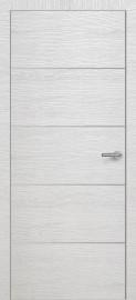 Фото -   Межкомнатная дверь Zadoor ПО ALU H12 Окаша Сильвер   | фото в интерьере