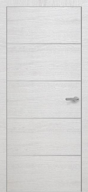 Фото -   Межкомнатная дверь Zadoor ПО ALU H12 Окаша Сильвер     фото в интерьере