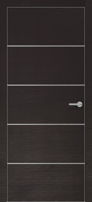 Фото -   Межкомнатная дверь Zadoor ПО ALU H12 Окаша Венге   | фото в интерьере