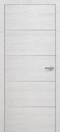 Фото -   Межкомнатная дверь Zadoor ПО H12 Окаша Сильвер   | фото в интерьере