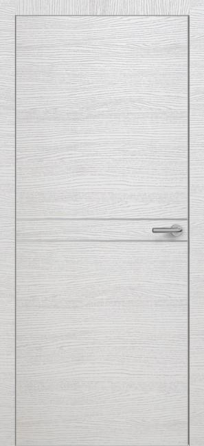 Фото -   Межкомнатная дверь Zadoor ПО ALU H13 Окаша Сильвер   | фото в интерьере