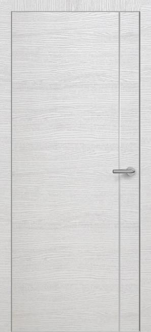 Фото -   Межкомнатная дверь Zadoor ПО ALU H14 Окаша Сильвер     фото в интерьере