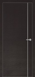 Фото -   Межкомнатная дверь Zadoor ПО ALU H14 Окаша Венге   | фото в интерьере