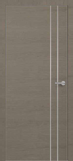 Фото -   Межкомнатная дверь Zadoor ПО ALU H15 Окаша Грей   | фото в интерьере