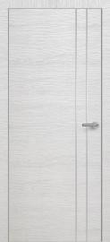 Фото -   Межкомнатная дверь Zadoor ПО ALU H15 Окаша Сильвер   | фото в интерьере