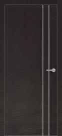 Фото -   Межкомнатная дверь Zadoor ПО ALU H15 Окаша Венге   | фото в интерьере