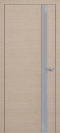 Фото -   Межкомнатная дверь Zadoor ПО ALU H2 Окаша Капучино   | фото в интерьере
