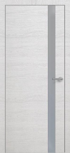Фото -   Межкомнатная дверь Zadoor ПО ALU H2 Окаша Сильвер   | фото в интерьере