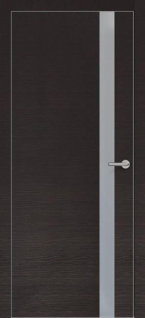 Фото -   Межкомнатная дверь Zadoor ПО ALU H2 Окаша Венге   | фото в интерьере