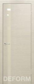 Фото -   Межкомнатная дверь Deform H2 дуб французский капучино, стекло перламутровое   | фото в интерьере