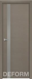 Фото -   Межкомнатная дверь Deform H2 дуб французский серый, стекло бронза   | фото в интерьере