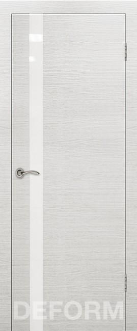 Фото -   Межкомнатная дверь Deform H2 дуб французский сильвер, стекло белое   | фото в интерьере