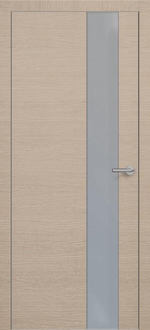 Фото -   Межкомнатная дверь Zadoor ПО ALU H3 Окаша Капучино   | фото в интерьере