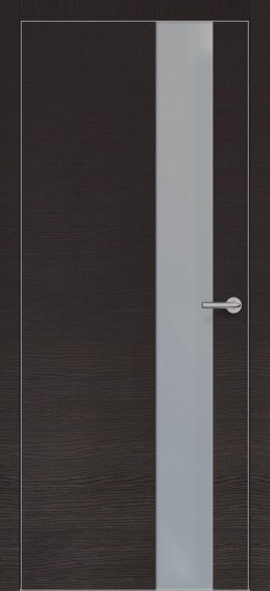 Фото -   Межкомнатная дверь Zadoor ПО ALU H3 Окаша Венге   | фото в интерьере