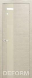 Фото -   Межкомнатная дверь Deform H3 дуб французский капучино, стекло перламутровое   | фото в интерьере