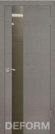 Фото -   Межкомнатная дверь Deform H3 дуб французский серый, стекло бронза   | фото в интерьере