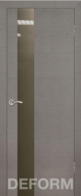 Фото -   Межкомнатная дверь Deform H3 дуб французский серый, стекло бронза     фото в интерьере