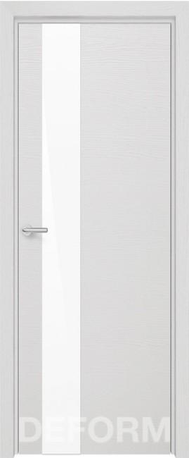 Фото -   Межкомнатная дверь Deform H3 дуб французский сильвер, стекло белое   | фото в интерьере